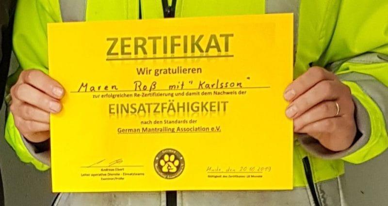 Re-Zertifizierung Karlsson -Zertifikat